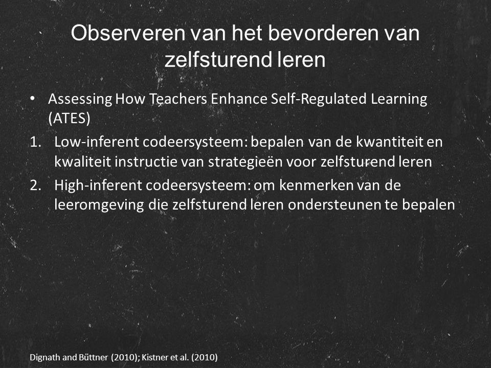 Observeren van het bevorderen van zelfsturend leren