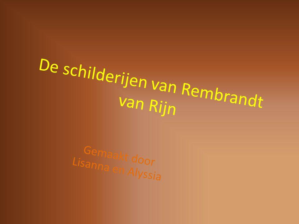 De schilderijen van Rembrandt van Rijn