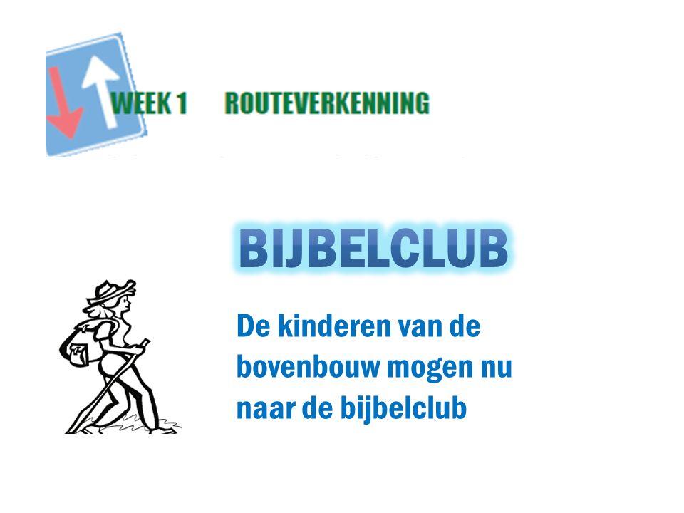 Bijbelclub De kinderen van de bovenbouw mogen nu naar de bijbelclub