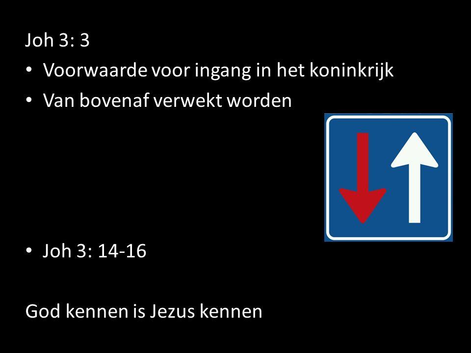 Joh 3: 3 Voorwaarde voor ingang in het koninkrijk.