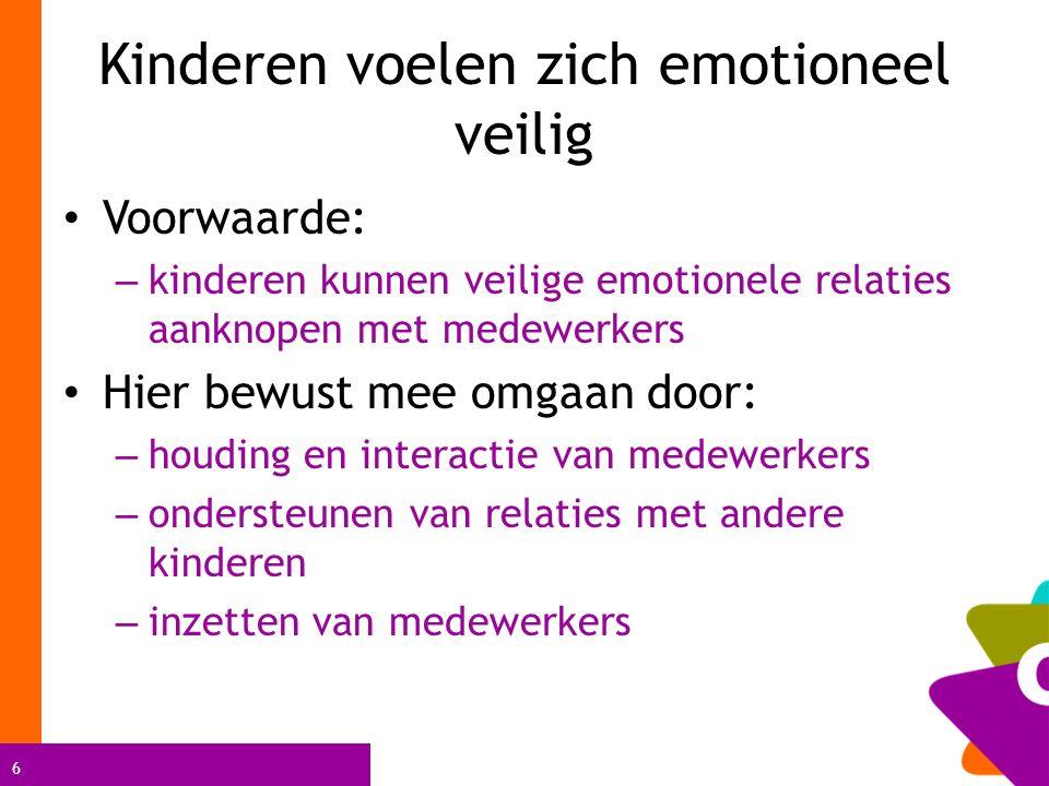 Kinderen voelen zich emotioneel veilig
