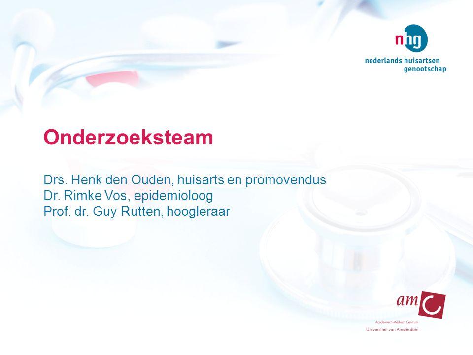 Onderzoeksteam Drs. Henk den Ouden, huisarts en promovendus