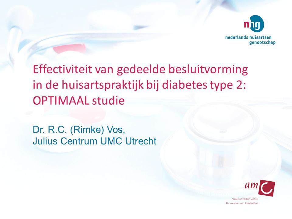 Effectiviteit van gedeelde besluitvorming in de huisartspraktijk bij diabetes type 2: OPTIMAAL studie