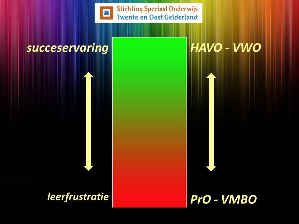 succeservaring HAVO - VWO Maar... leerfrustratie PrO - VMBO