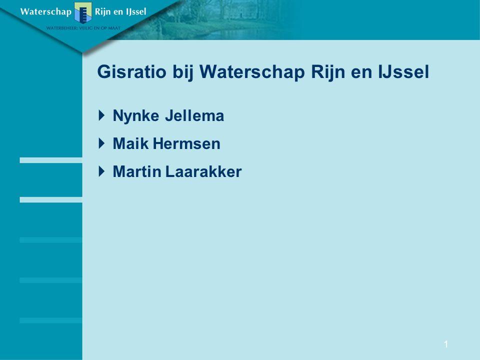 Gisratio bij Waterschap Rijn en IJssel