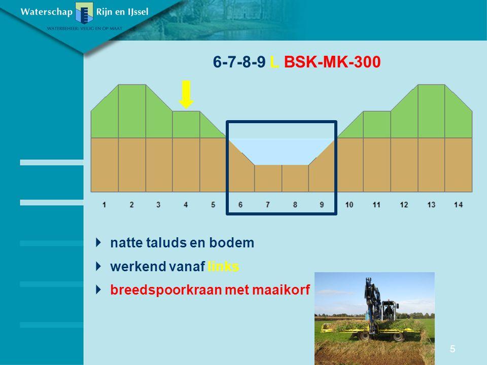 6-7-8-9 L BSK-MK-300 natte taluds en bodem werkend vanaf links