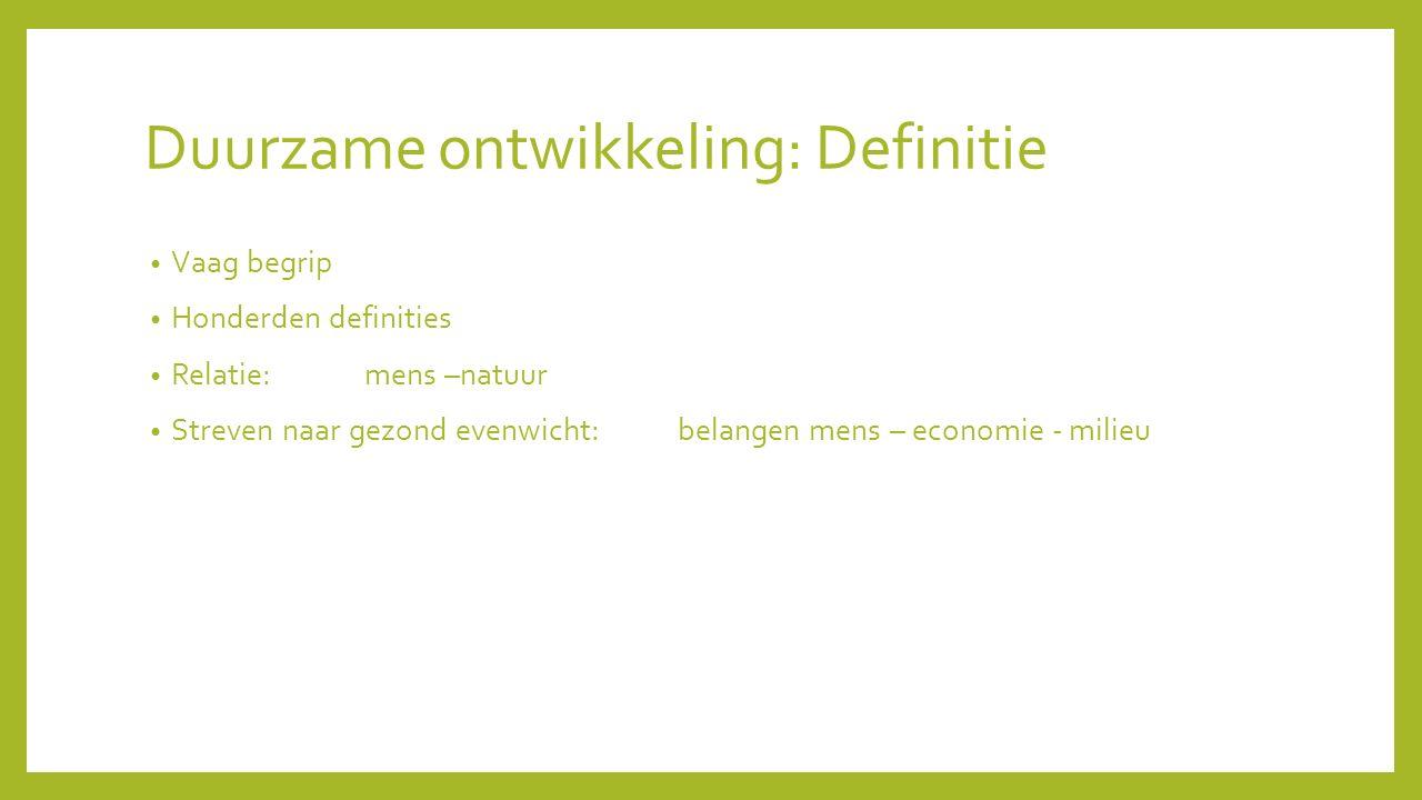 Duurzame ontwikkeling: Definitie