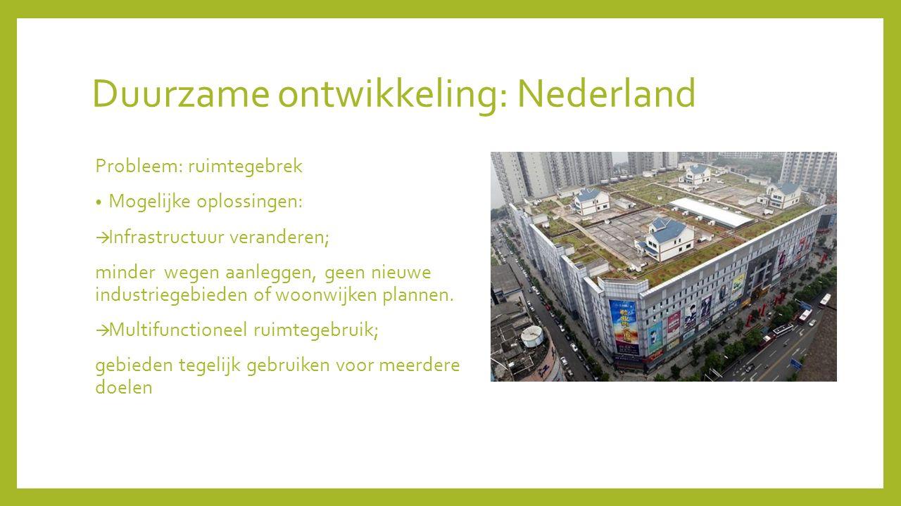 Duurzame ontwikkeling: Nederland