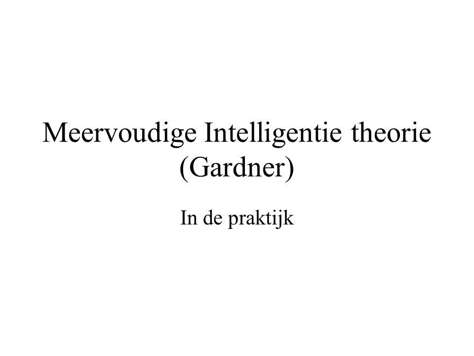 Meervoudige Intelligentie theorie (Gardner)