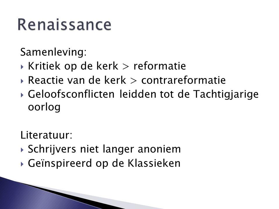 Renaissance Samenleving: Kritiek op de kerk > reformatie