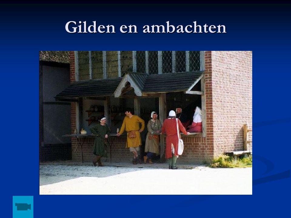 Gilden en ambachten Ambachtswoning, opm: kijken op schooltv, staat filmpje van de gilden en ambachten.