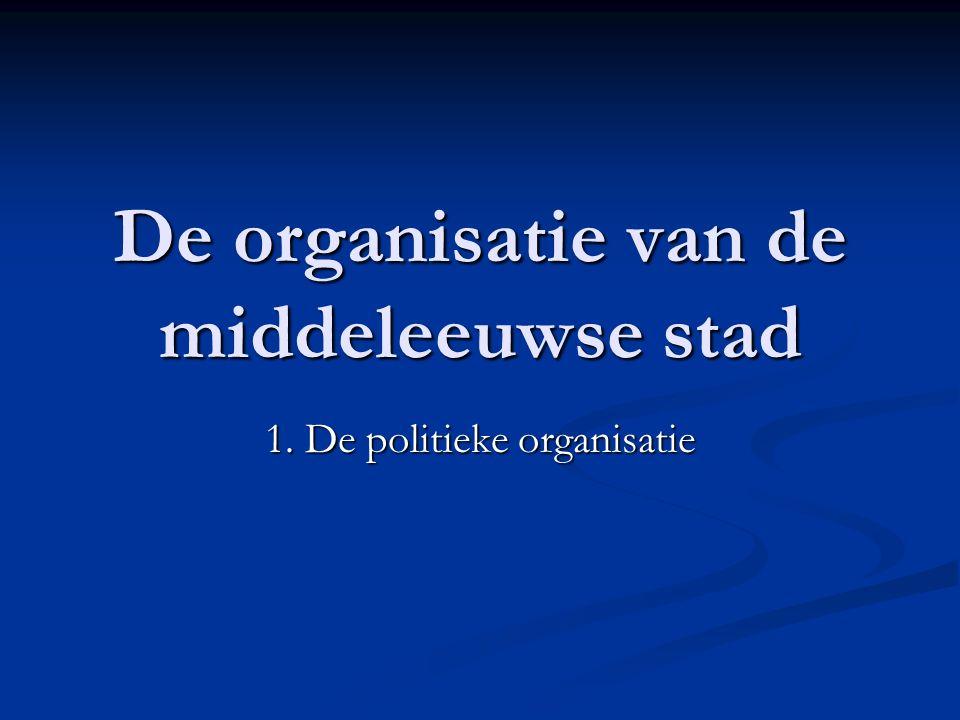 De organisatie van de middeleeuwse stad