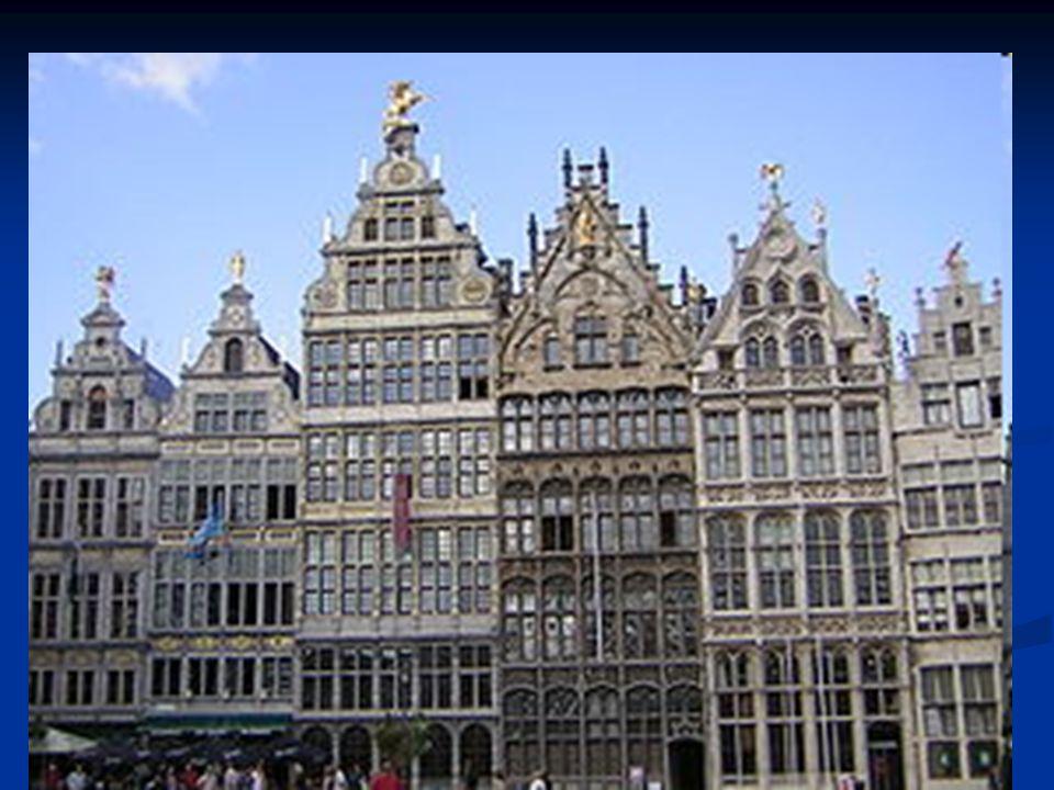 Gildenhuizen in Antwerpen  rijkdom en macht van de gilden (hadden ook eigen symbool, schild, schatkist, bestuur,..)