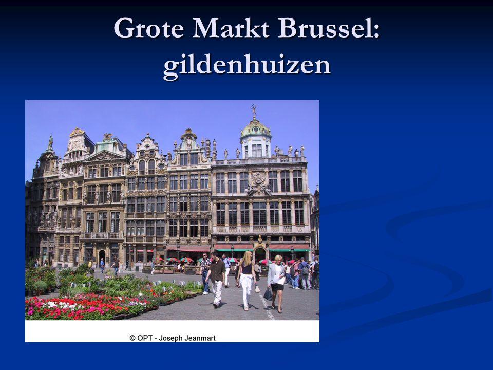 Grote Markt Brussel: gildenhuizen