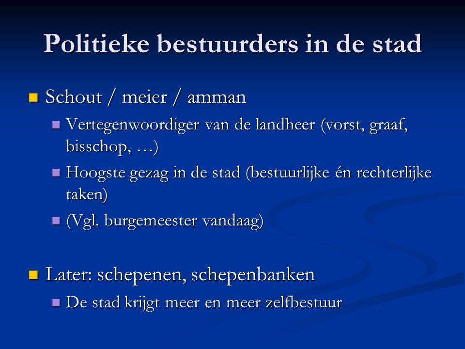 Politieke bestuurders in de stad