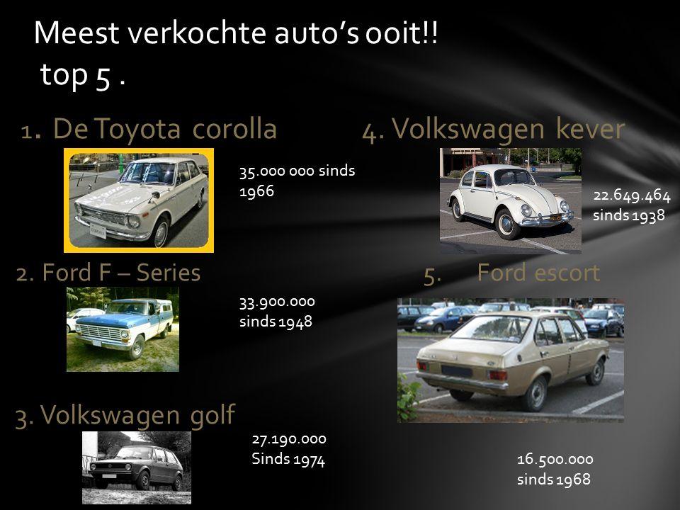 Meest verkochte auto's ooit!! top 5 .
