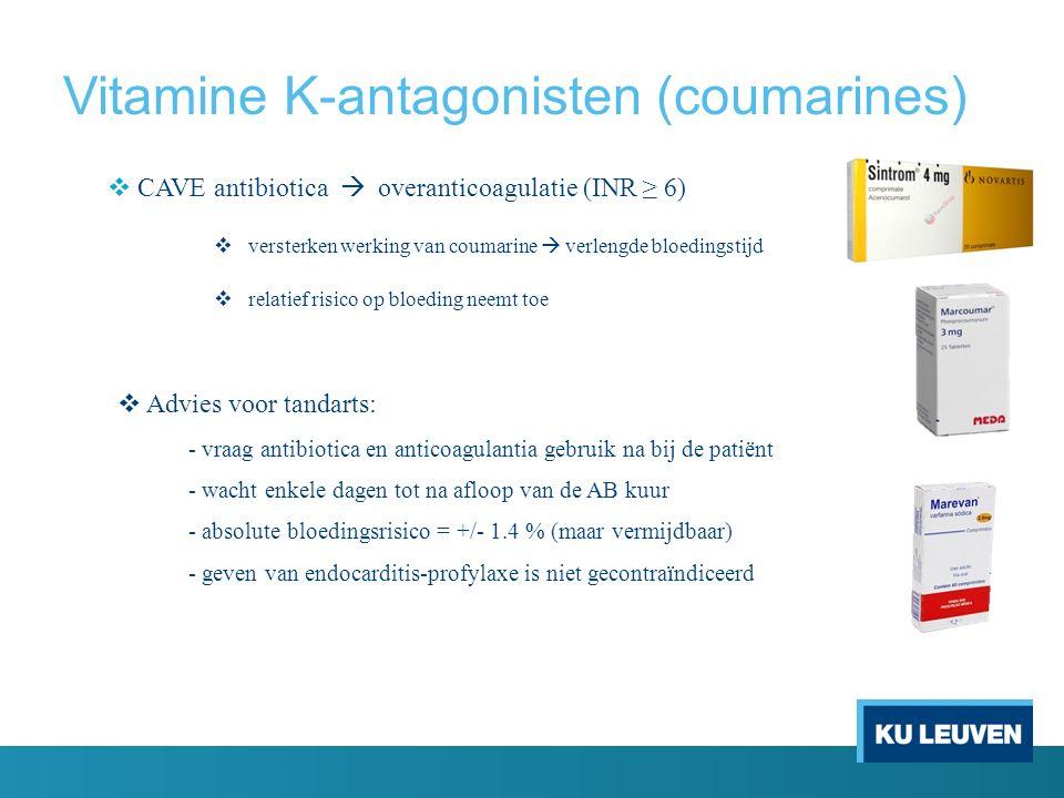 Vitamine K-antagonisten (coumarines)