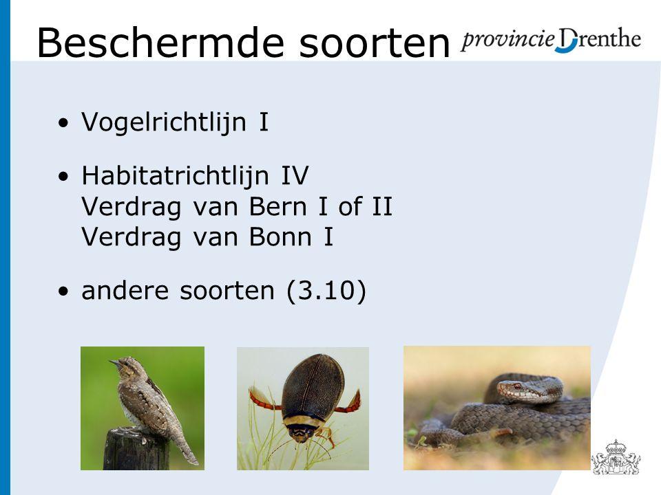 Beschermde soorten Vogelrichtlijn I