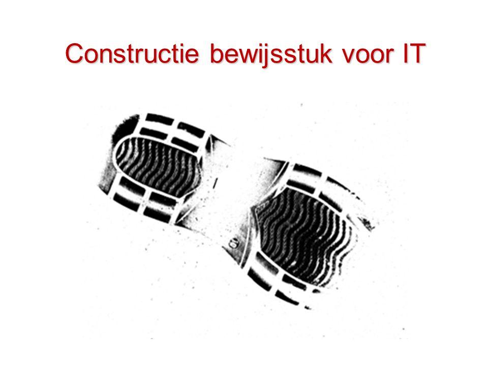 Constructie bewijsstuk voor IT