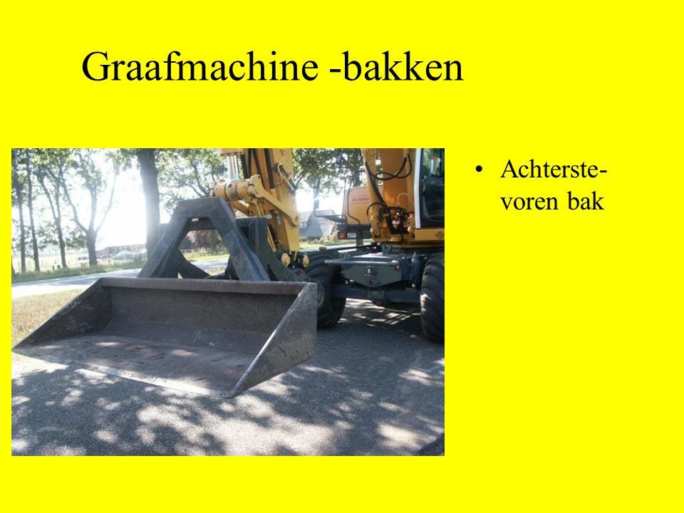 Graafmachine -bakken Achterste-voren bak