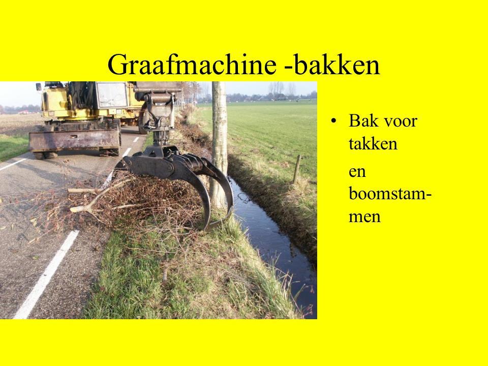 Graafmachine -bakken Bak voor takken en boomstam-men
