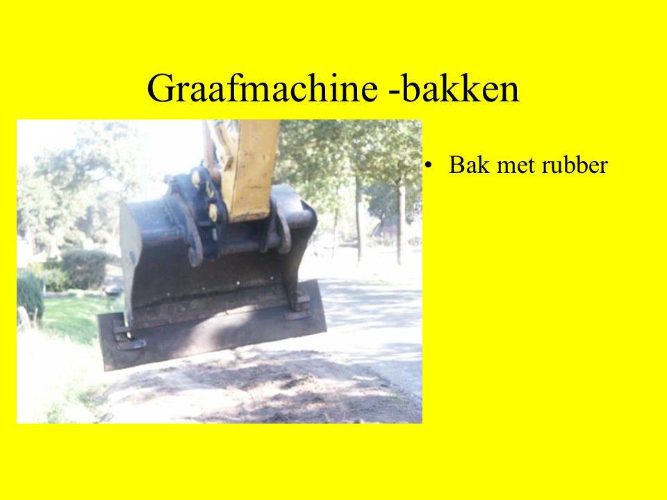 Graafmachine -bakken Bak met rubber