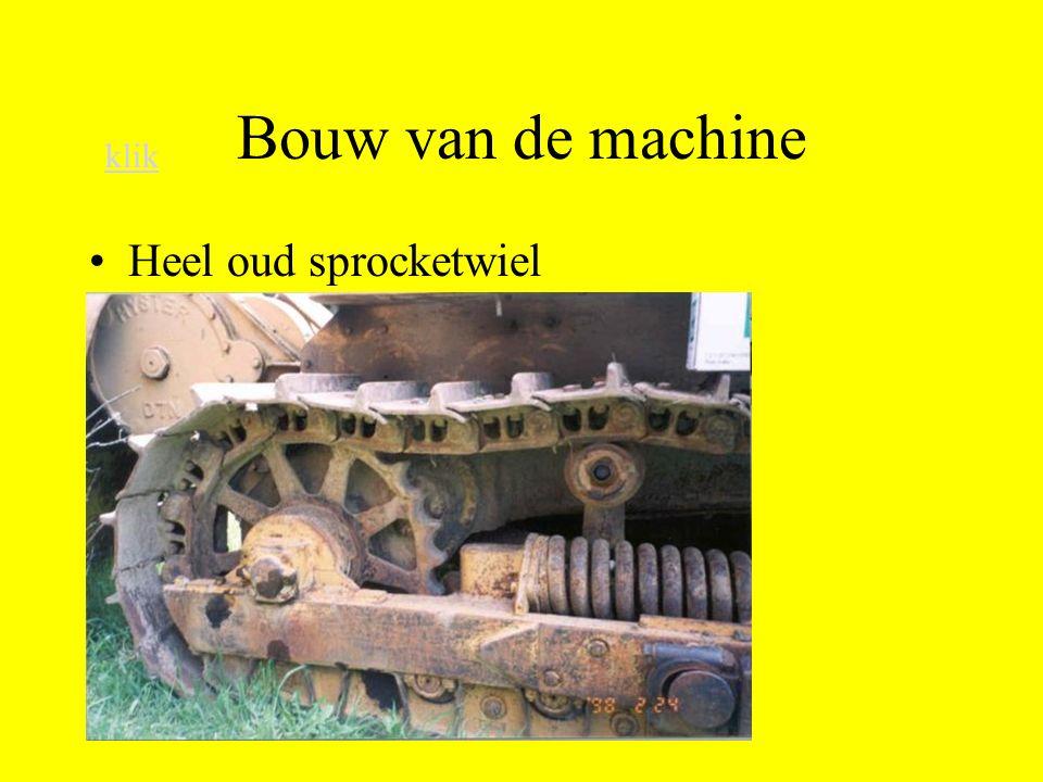 Bouw van de machine klik Heel oud sprocketwiel