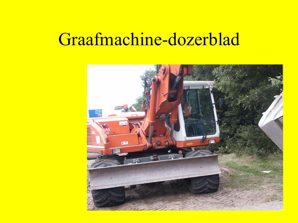 Graafmachine-dozerblad