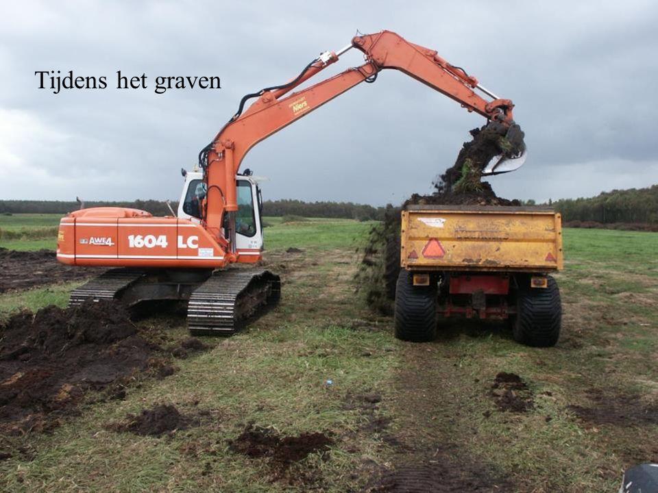 Tijdens het graven