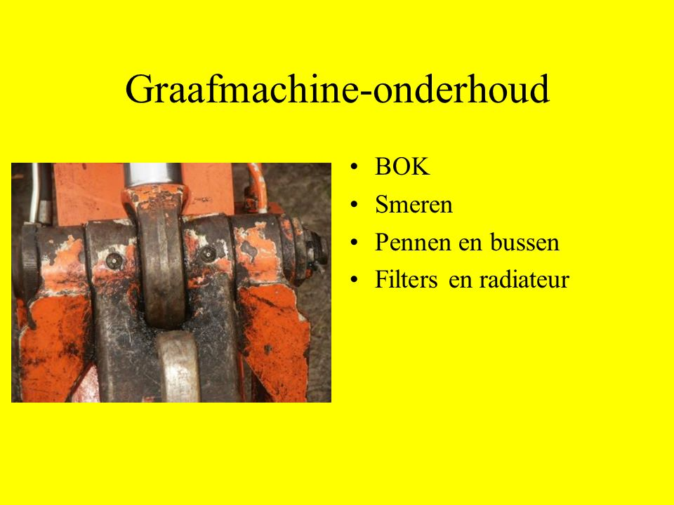 Graafmachine-onderhoud