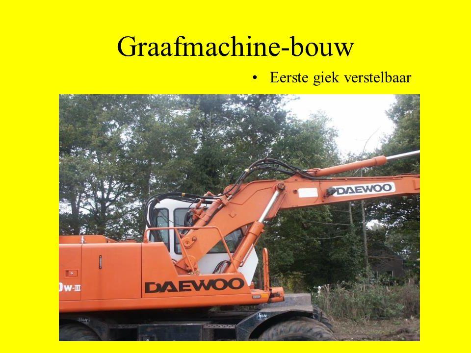 Graafmachine-bouw Eerste giek verstelbaar