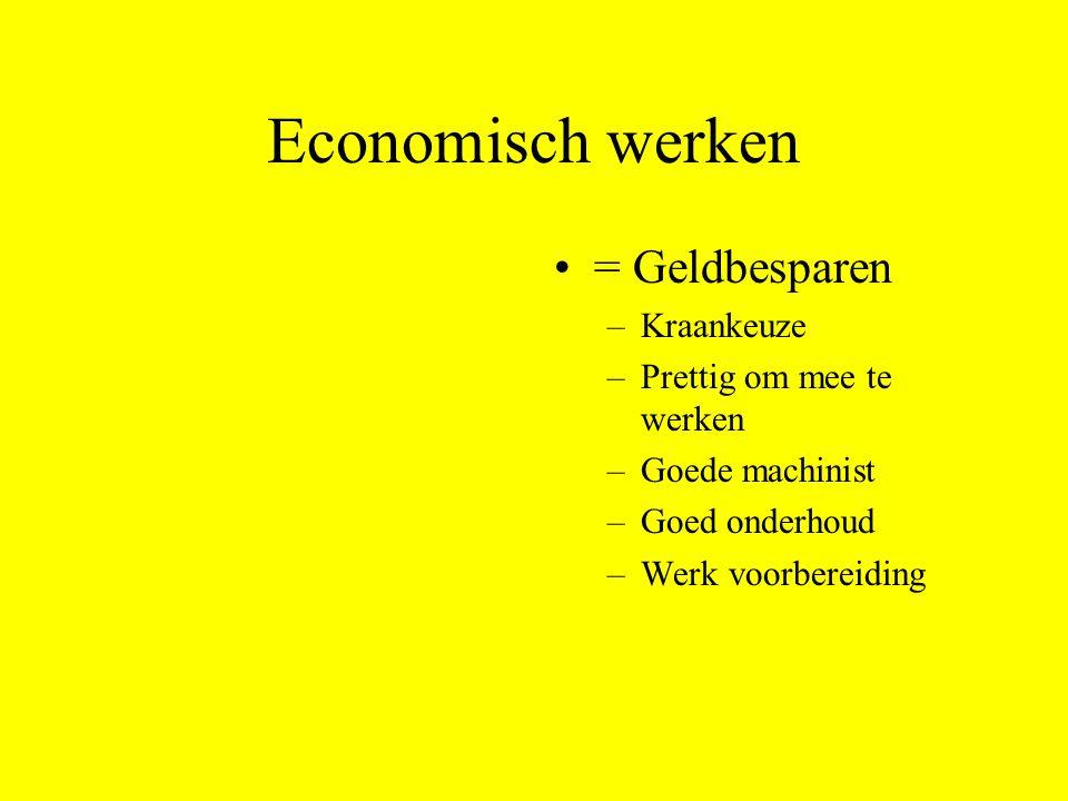 Economisch werken = Geldbesparen Kraankeuze Prettig om mee te werken