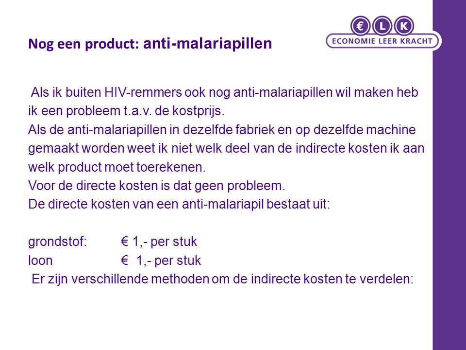 Nog een product: anti-malariapillen