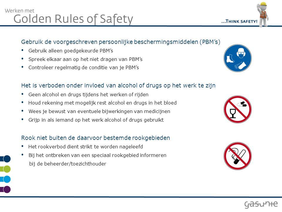 Gebruik de voorgeschreven persoonlijke beschermingsmiddelen (PBM's)