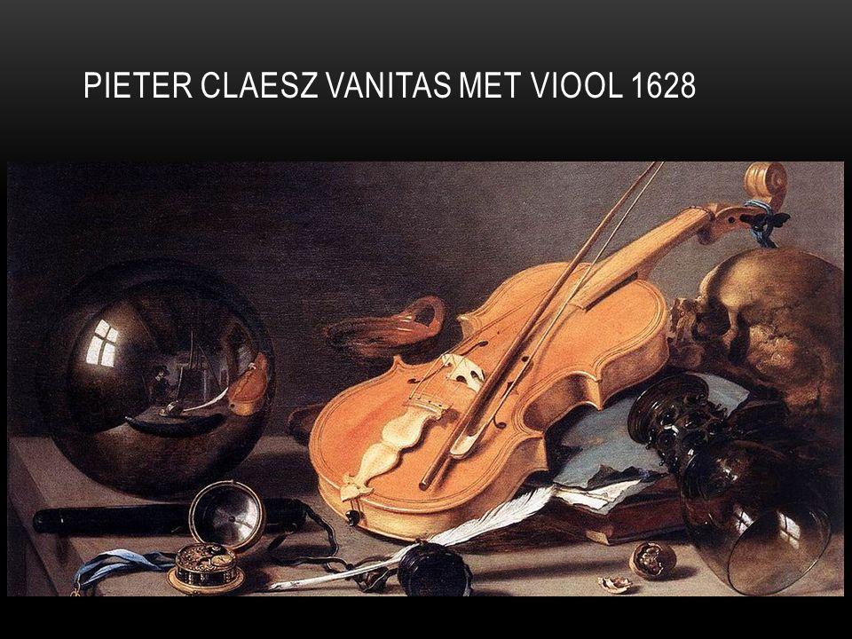Pieter Claesz Vanitas met viool 1628