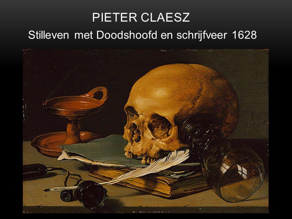 Pieter Claesz Stilleven met Doodshoofd en schrijfveer 1628