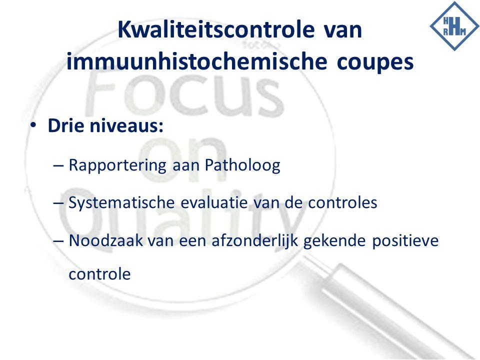 Kwaliteitscontrole van immuunhistochemische coupes