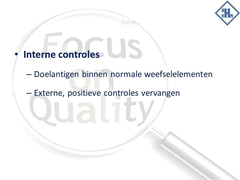 Interne controles Doelantigen binnen normale weefselelementen