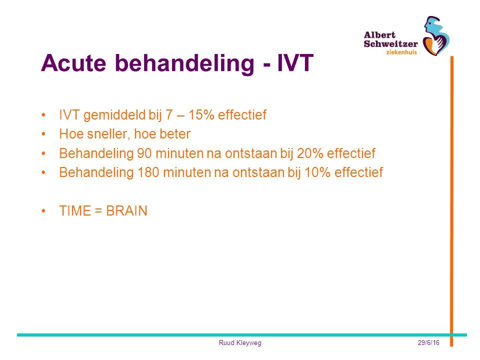 Acute behandeling - IVT