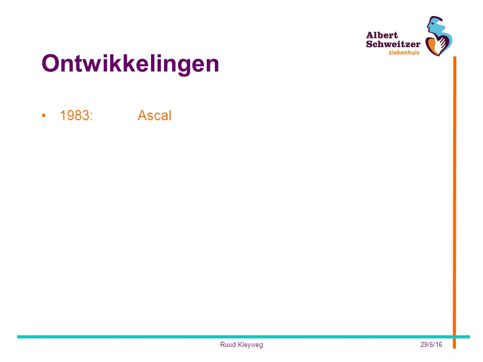 Ontwikkelingen 1983: Ascal Ruud Kleyweg 28/4/17