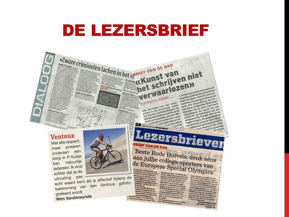 DE LEZERSBRIEf