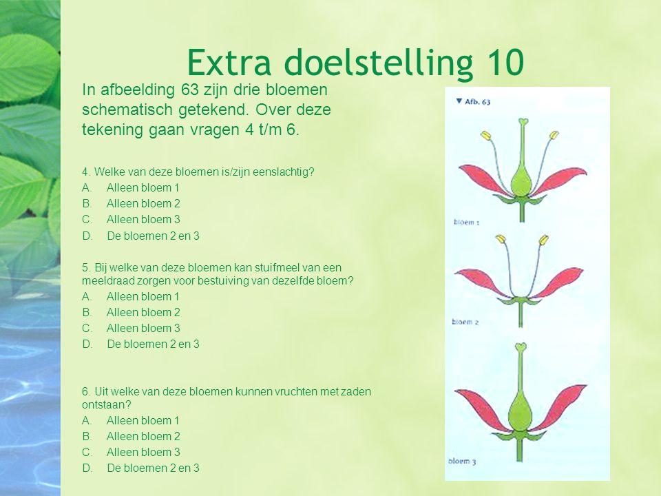 Extra doelstelling 10 In afbeelding 63 zijn drie bloemen schematisch getekend. Over deze tekening gaan vragen 4 t/m 6.