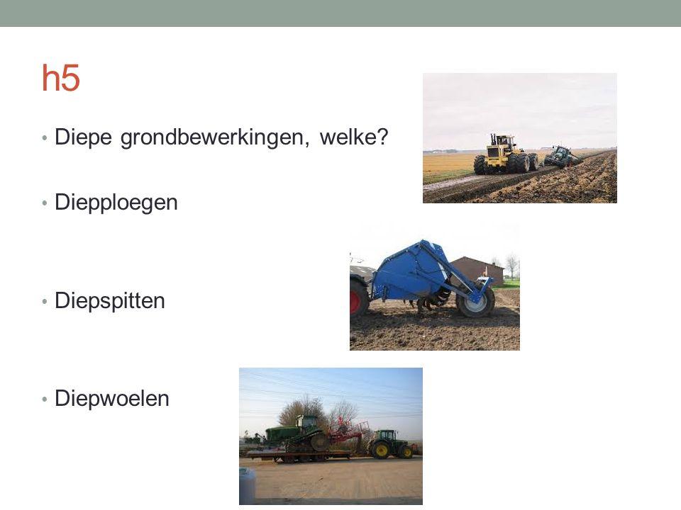h5 Diepe grondbewerkingen, welke Diepploegen Diepspitten Diepwoelen