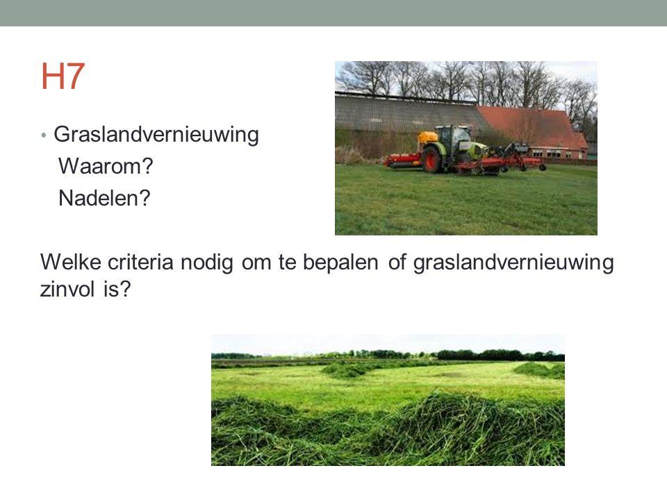 H7 Graslandvernieuwing Waarom Nadelen