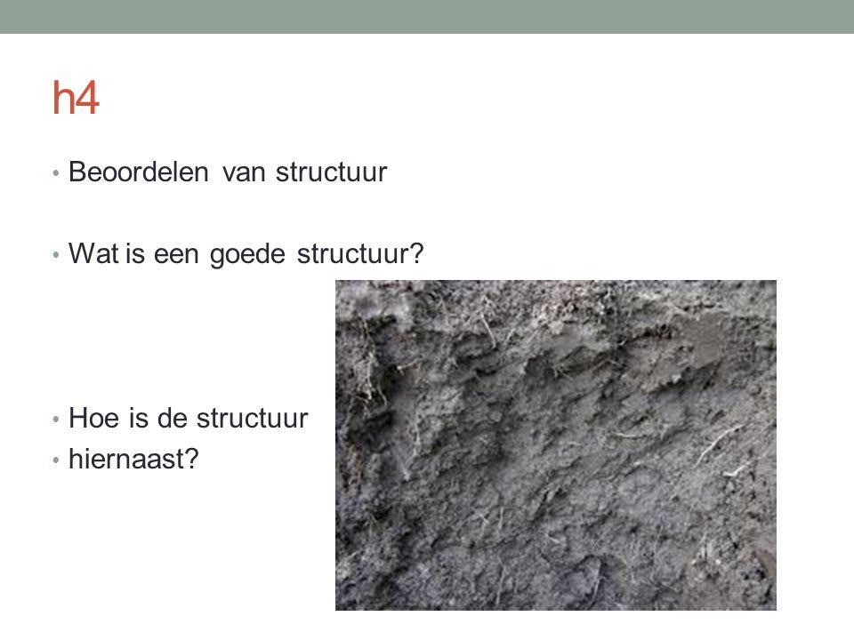 h4 Beoordelen van structuur Wat is een goede structuur