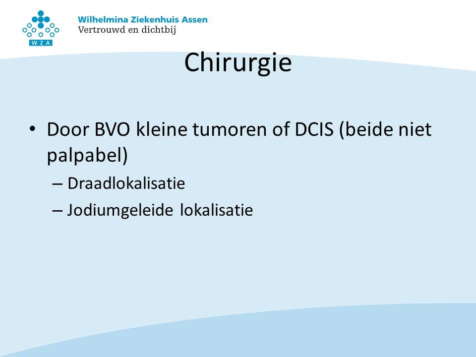 Chirurgie Door BVO kleine tumoren of DCIS (beide niet palpabel)