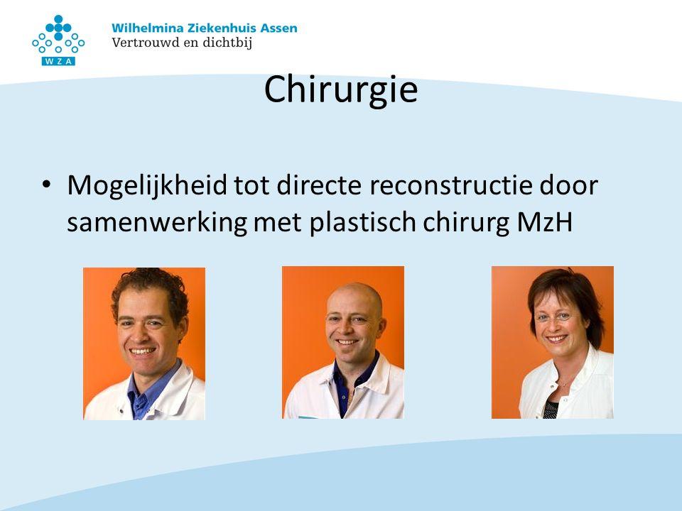 Chirurgie Mogelijkheid tot directe reconstructie door samenwerking met plastisch chirurg MzH