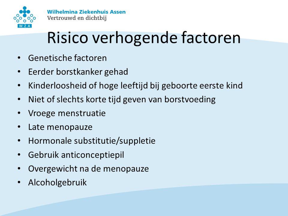 Risico verhogende factoren
