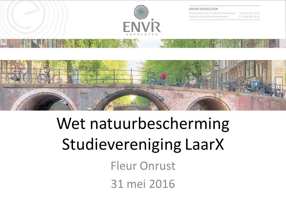 Wet natuurbescherming Studievereniging LaarX