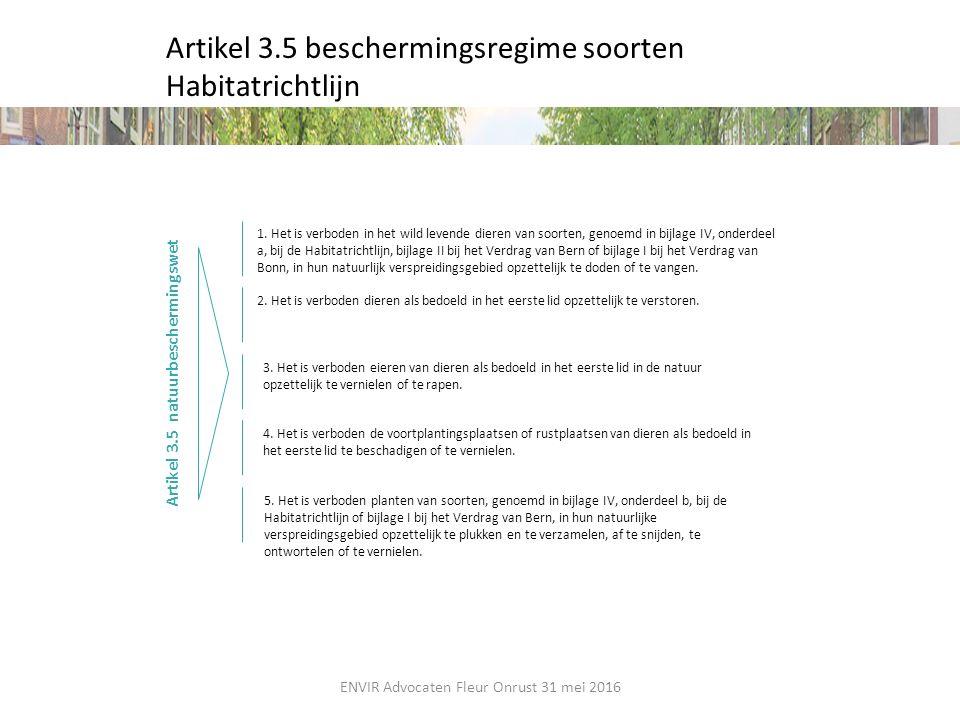 Artikel 3.5 beschermingsregime soorten Habitatrichtlijn